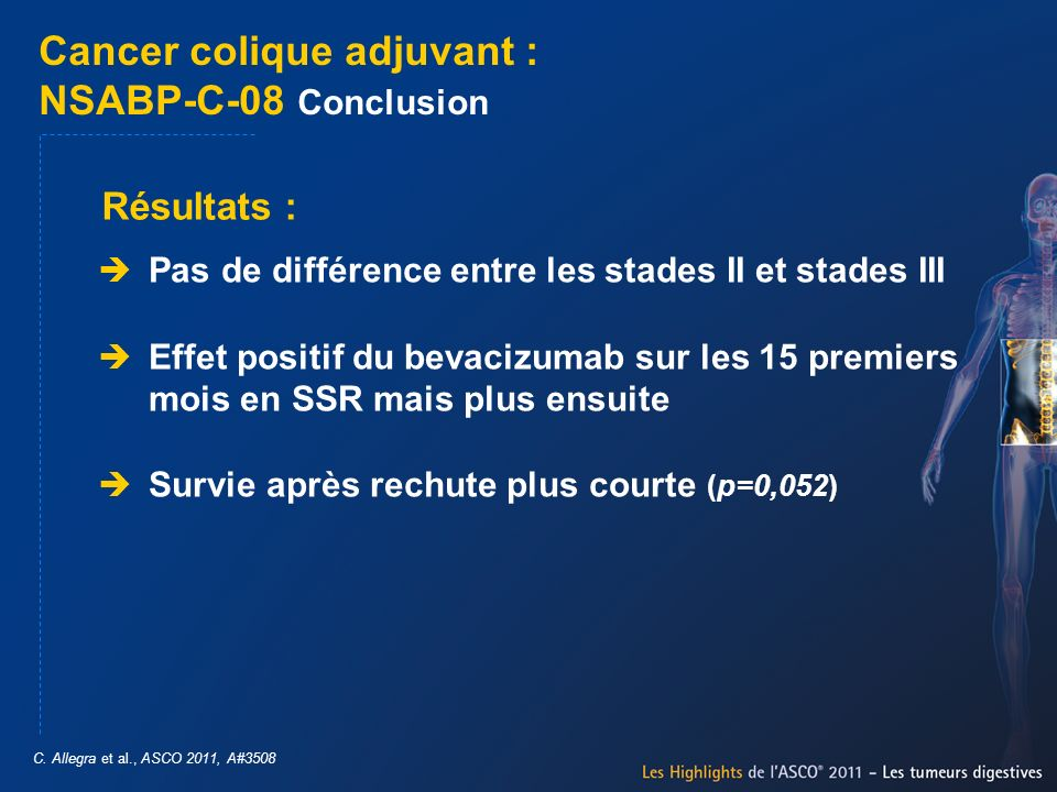 Cancer colique adjuvant : NSABP-C-08 Conclusion