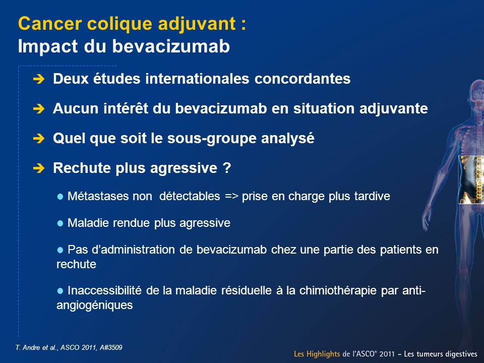 Cancer colique adjuvant : Impact du bevacizumab