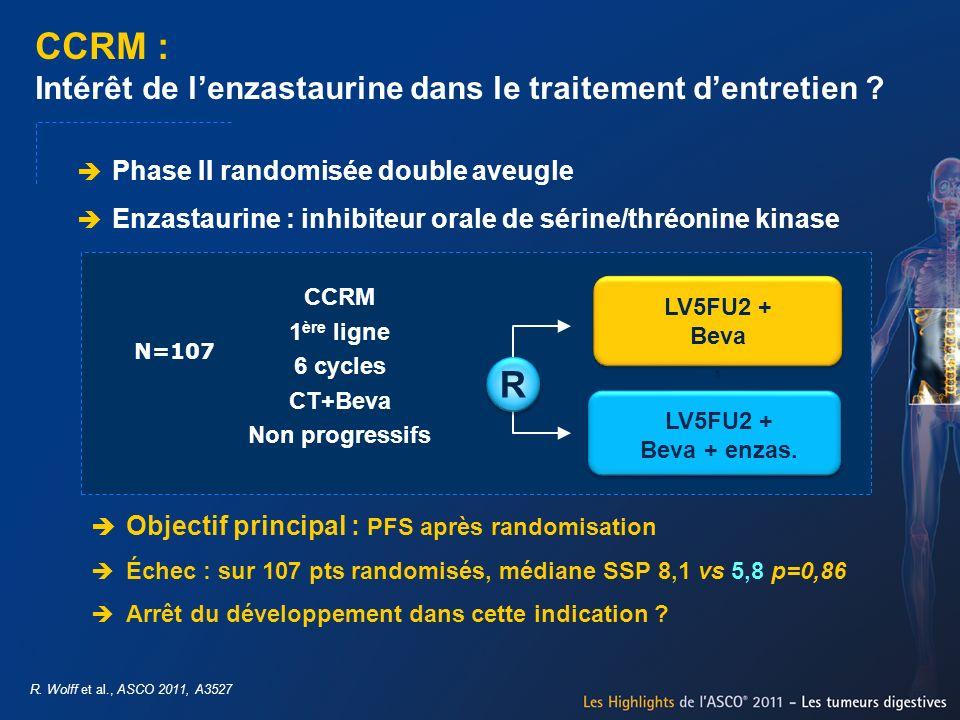 CCRM : Intérêt de l'enzastaurine dans le traitement d'entretien