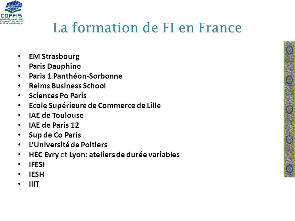 La formation de FI en France