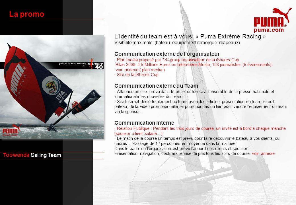 La promo L'Identité du team est à vous: « Puma Extrême Racing »