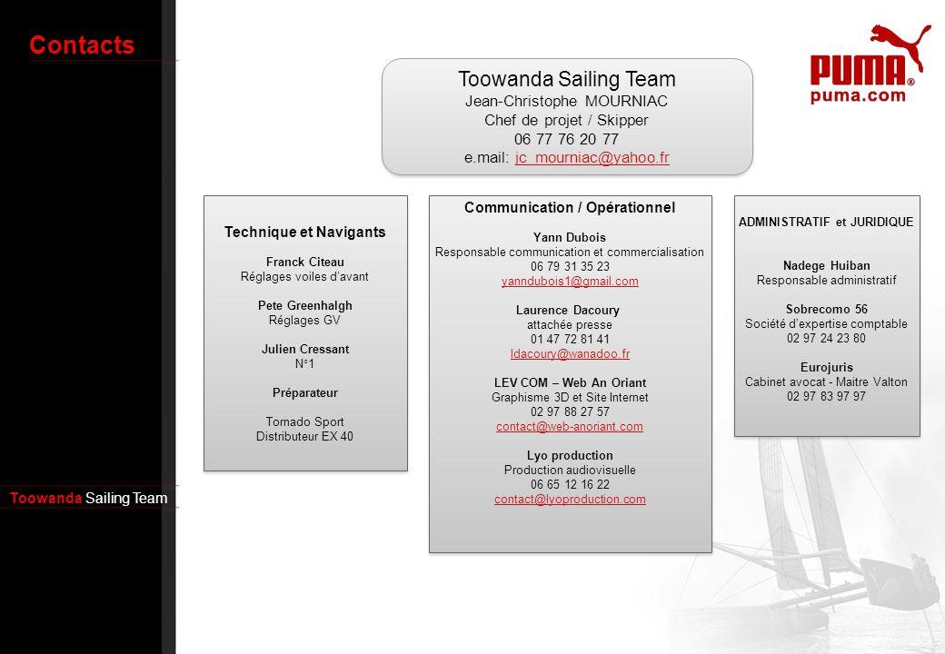 Contacts Toowanda Sailing Team Jean-Christophe MOURNIAC