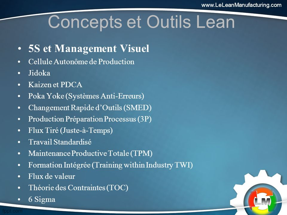 Concepts et Outils Lean