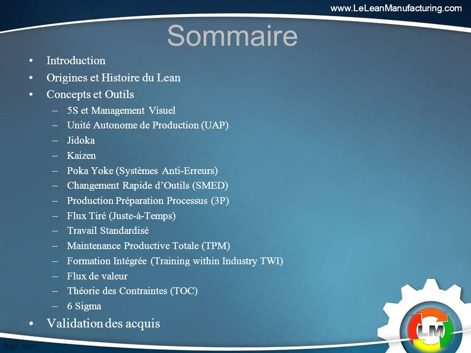 Sommaire Validation des acquis Introduction