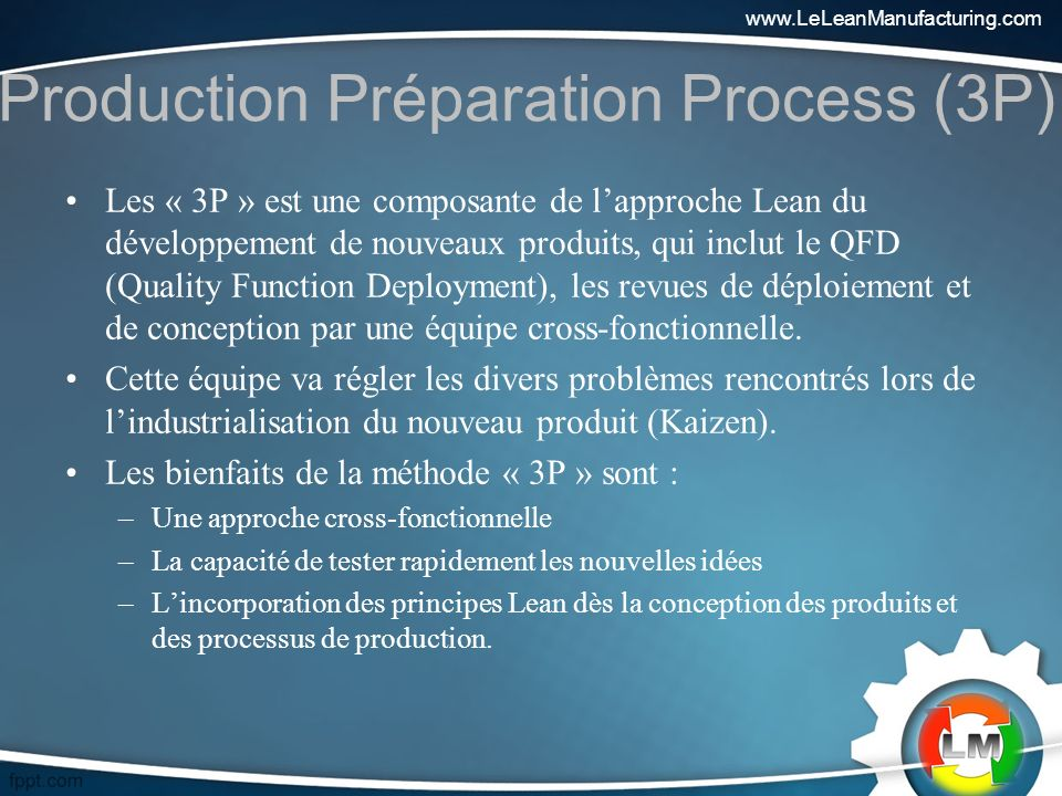 Production Préparation Process (3P)