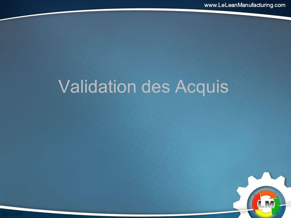 www.LeLeanManufacturing.com Validation des Acquis