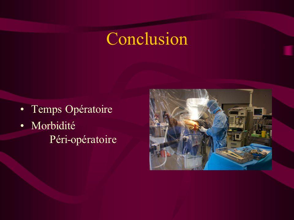 Conclusion Temps Opératoire Morbidité Péri-opératoire