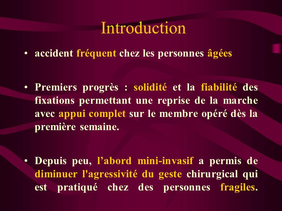 Introduction accident fréquent chez les personnes âgées