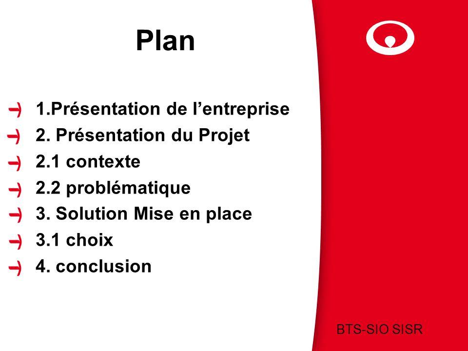 Plan 1.Présentation de l'entreprise 2. Présentation du Projet