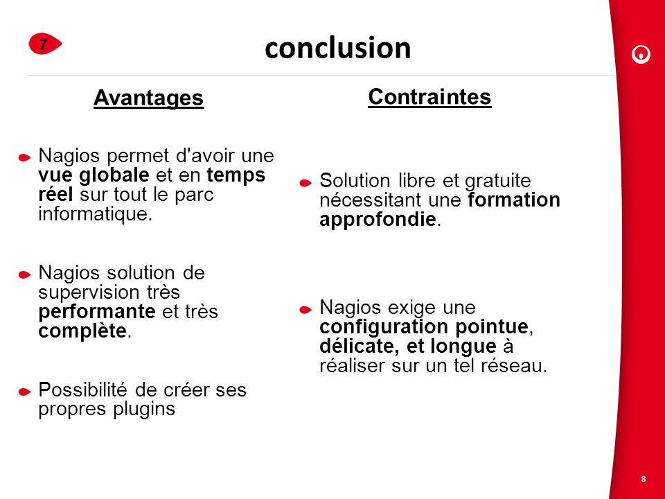 conclusion Avantages Contraintes 1.Veolia Propreté