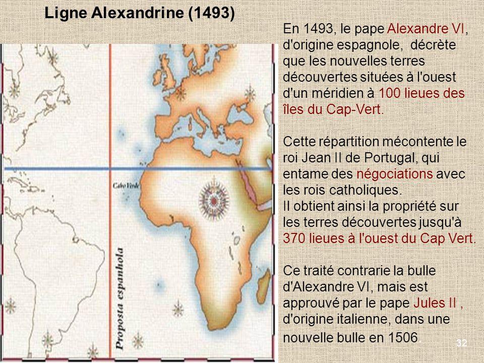Ligne Alexandrine (1493)