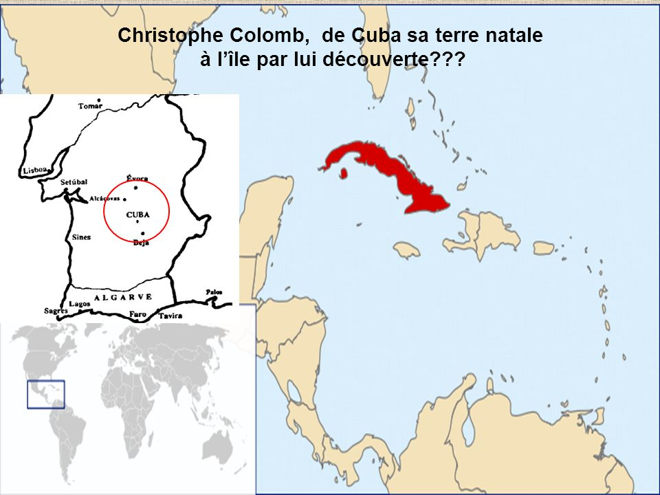 Christophe Colomb, de Cuba sa terre natale à l'île par lui découverte