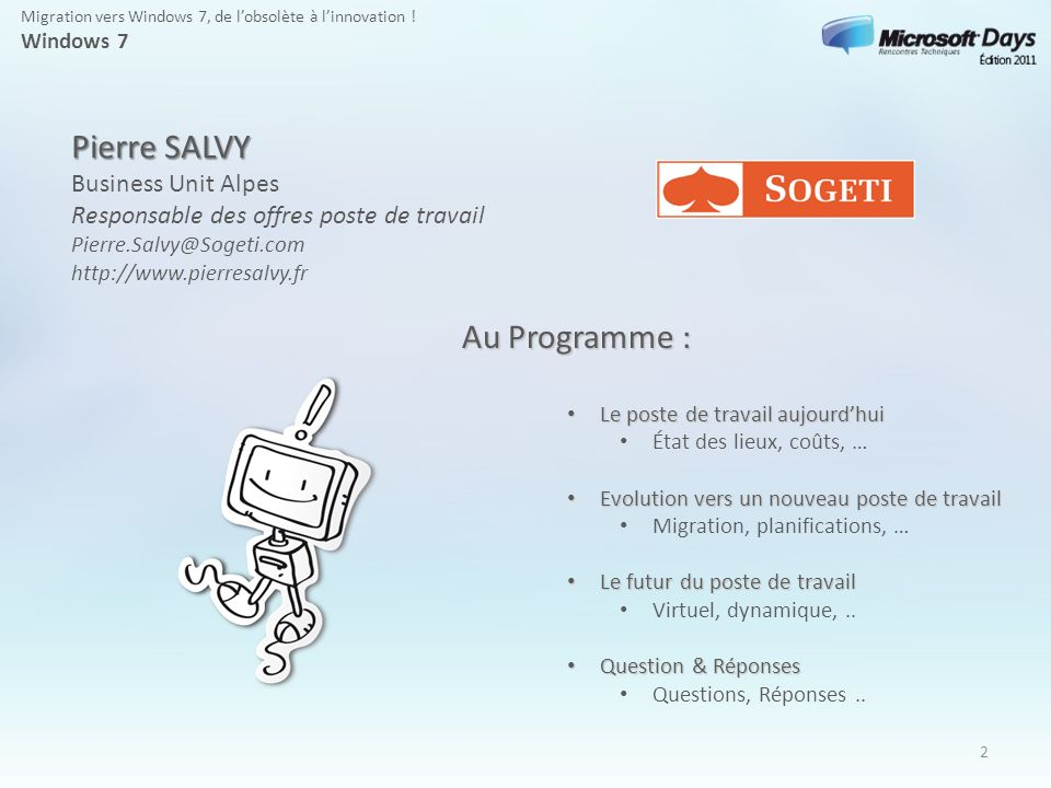 Pierre SALVY Au Programme :