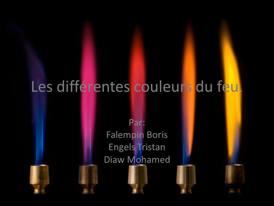 Les différentes couleurs du feu.