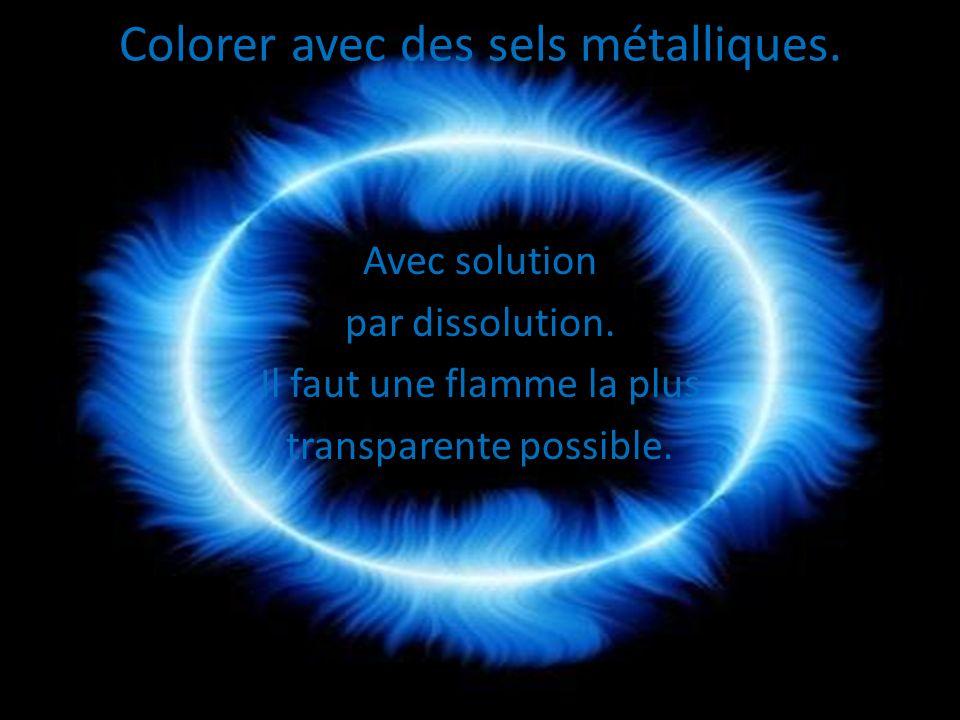 Colorer avec des sels métalliques.