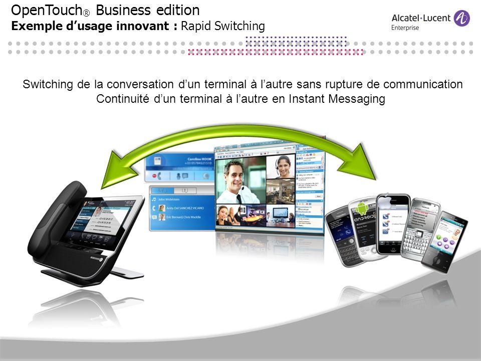 Continuité d'un terminal à l'autre en Instant Messaging