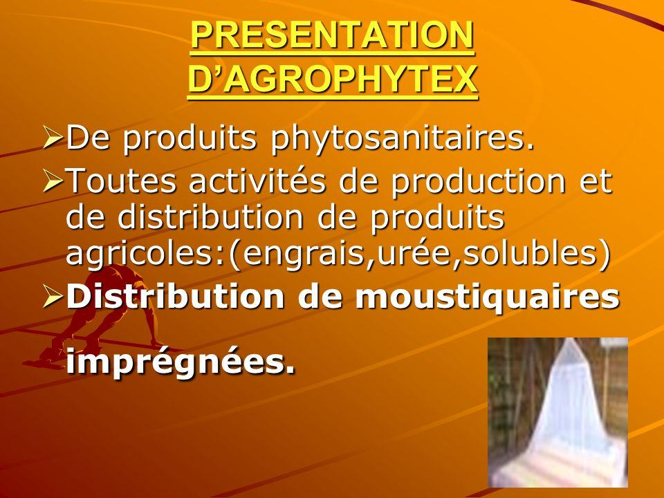 PRESENTATION D'AGROPHYTEX