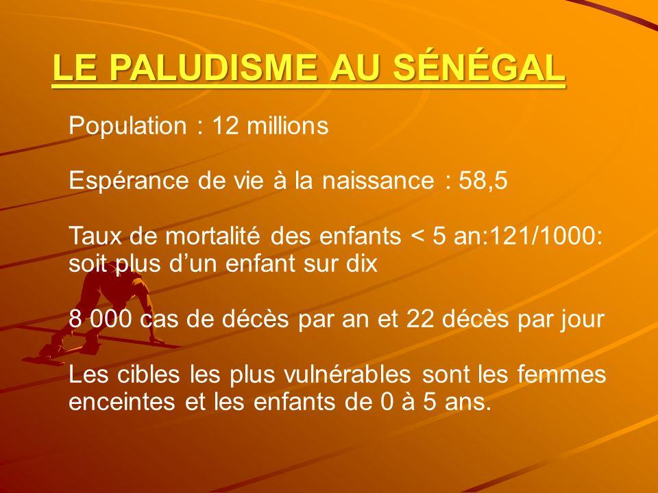 LE PALUDISME AU SÉNÉGAL