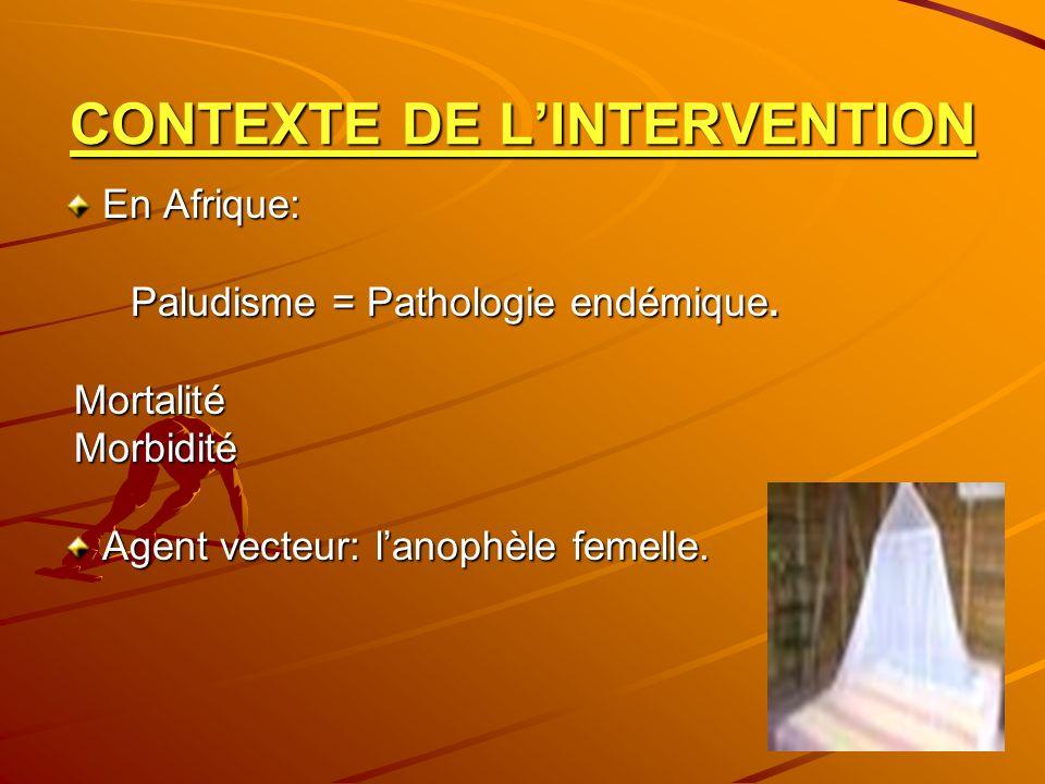 CONTEXTE DE L'INTERVENTION