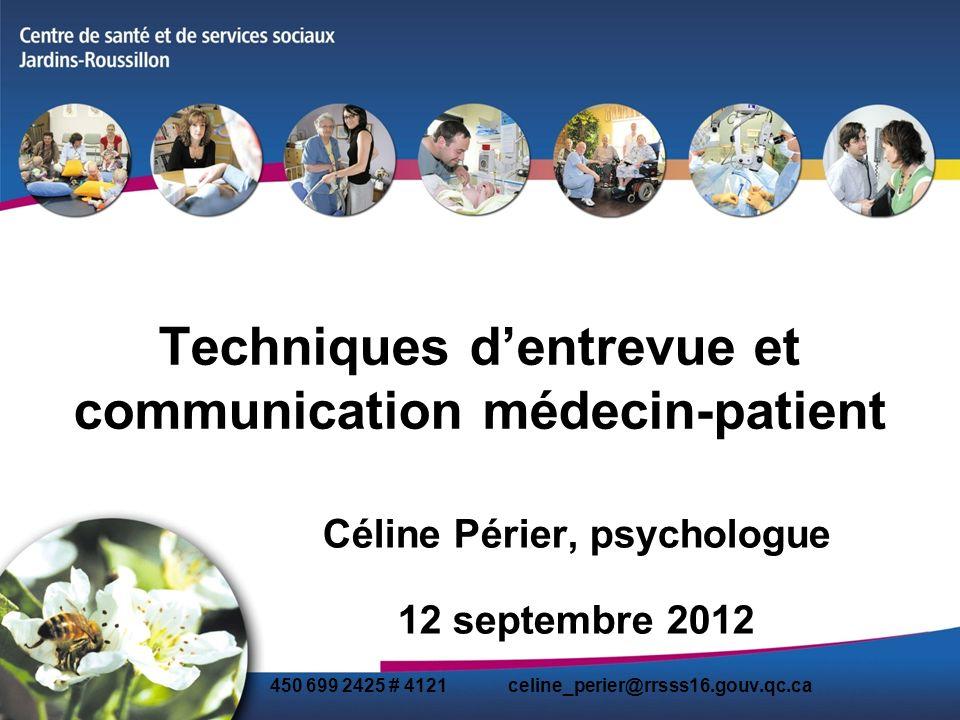 Techniques d'entrevue et communication médecin-patient