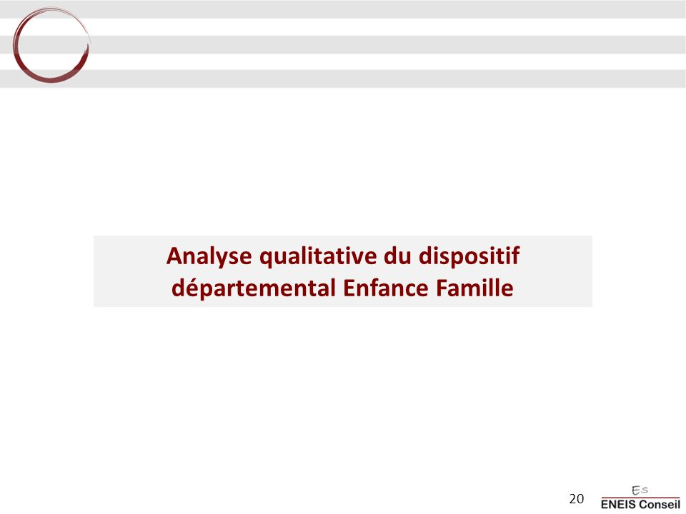 Analyse qualitative du dispositif départemental Enfance Famille
