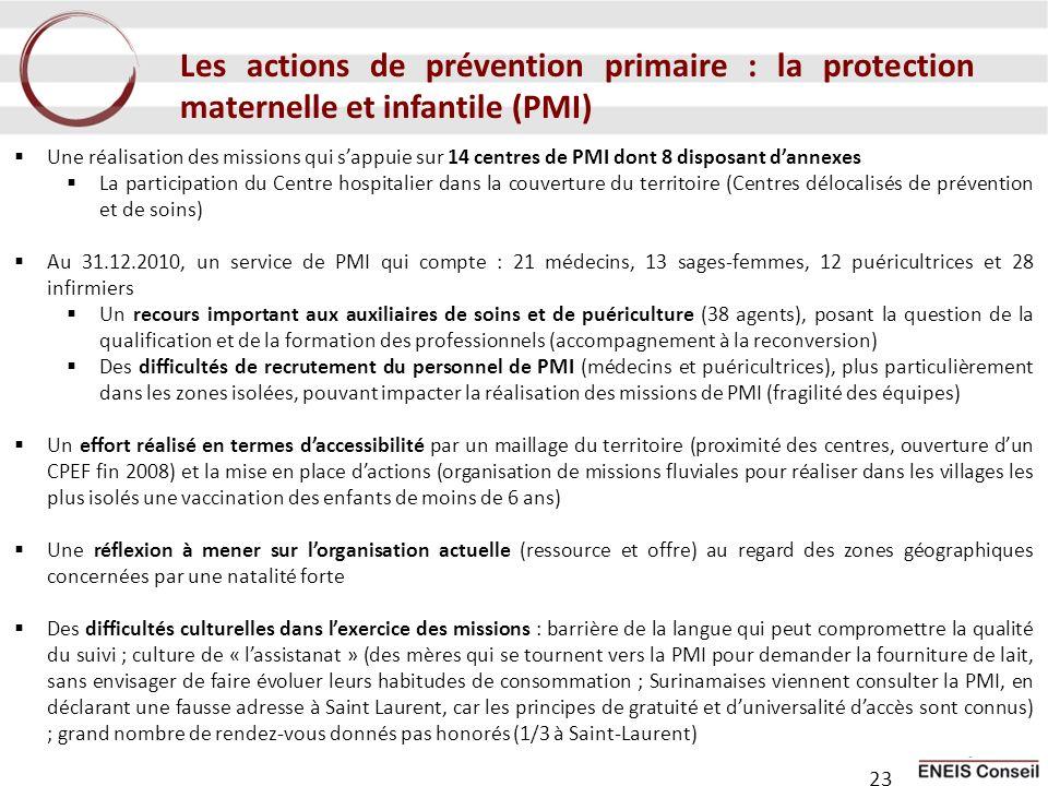 Les actions de prévention primaire : la protection maternelle et infantile (PMI)