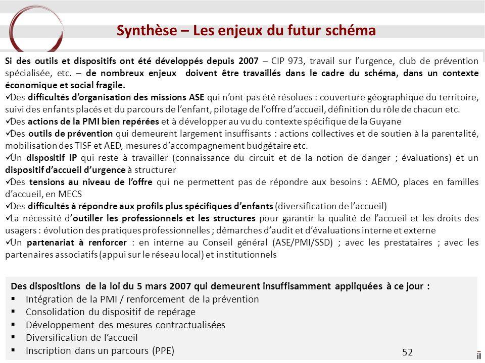 Synthèse – Les enjeux du futur schéma