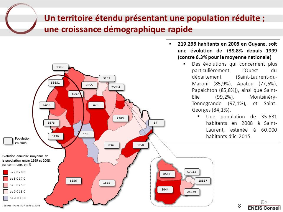 Un territoire étendu présentant une population réduite ; une croissance démographique rapide