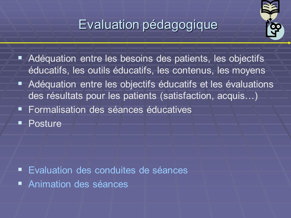 Evaluation pédagogique