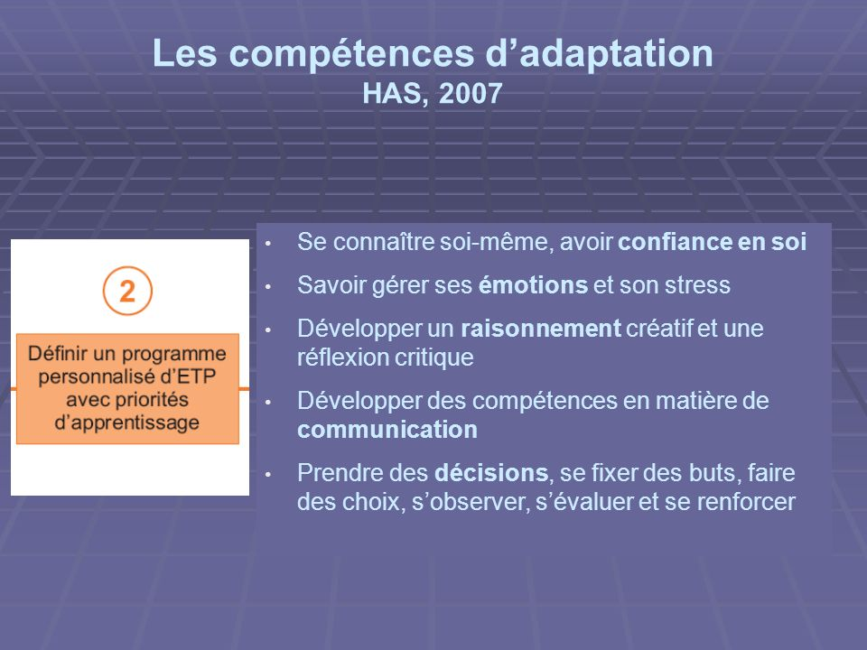 Les compétences d'adaptation