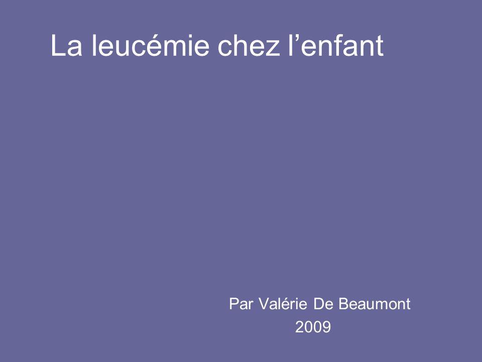 La leucémie chez l'enfant