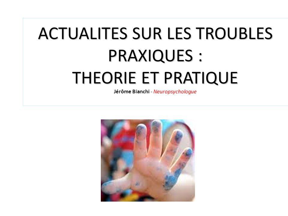 ACTUALITES SUR LES TROUBLES PRAXIQUES : THEORIE ET PRATIQUE Jérôme Bianchi - Neuropsychologue