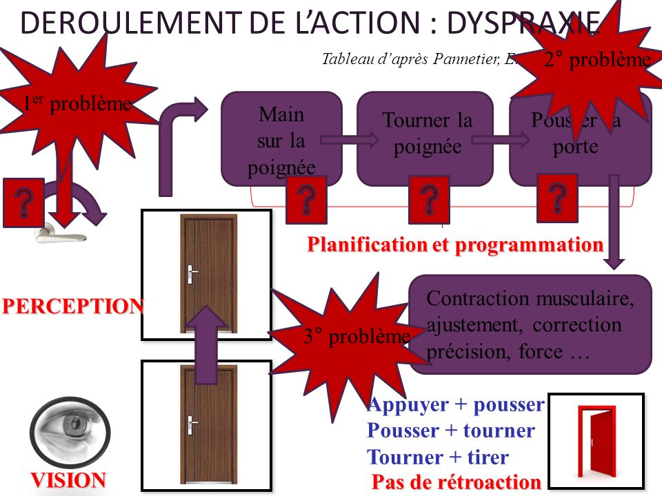 DEROULEMENT DE L'ACTION : DYSPRAXIE
