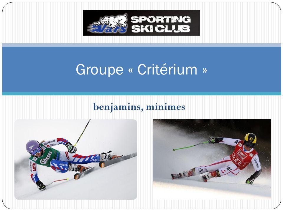 Groupe « Critérium » benjamins, minimes