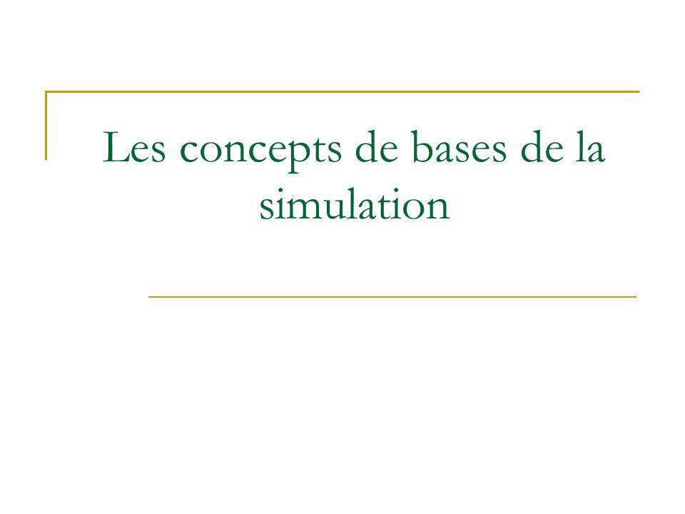 Les concepts de bases de la simulation