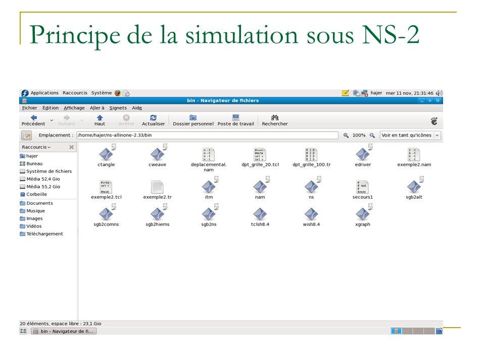 Principe de la simulation sous NS-2
