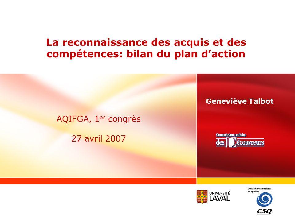 AQIFGA, 1er congrès 27 avril 2007