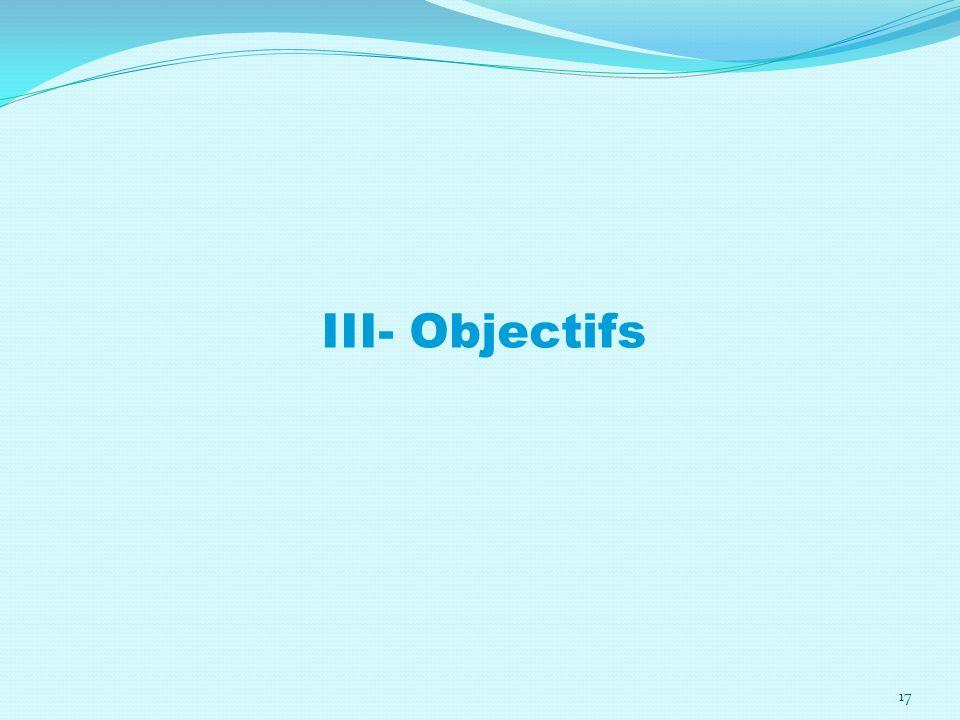 III- Objectifs