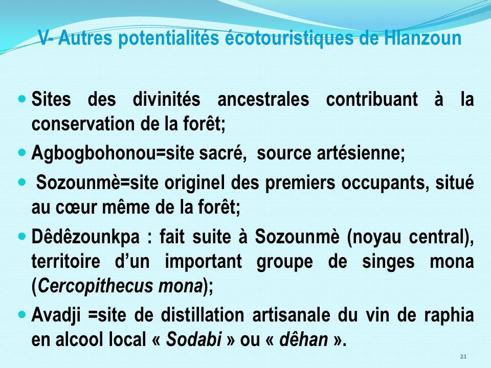 V- Autres potentialités écotouristiques de Hlanzoun
