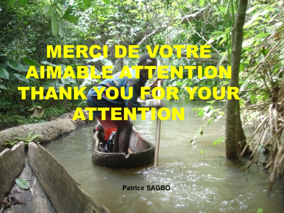 MERCI DE VOTRE AIMABLE ATTENTION THANK YOU FOR YOUR ATTENTION