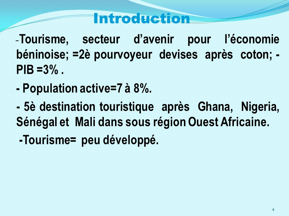 Introduction - Population active=7 à 8%.