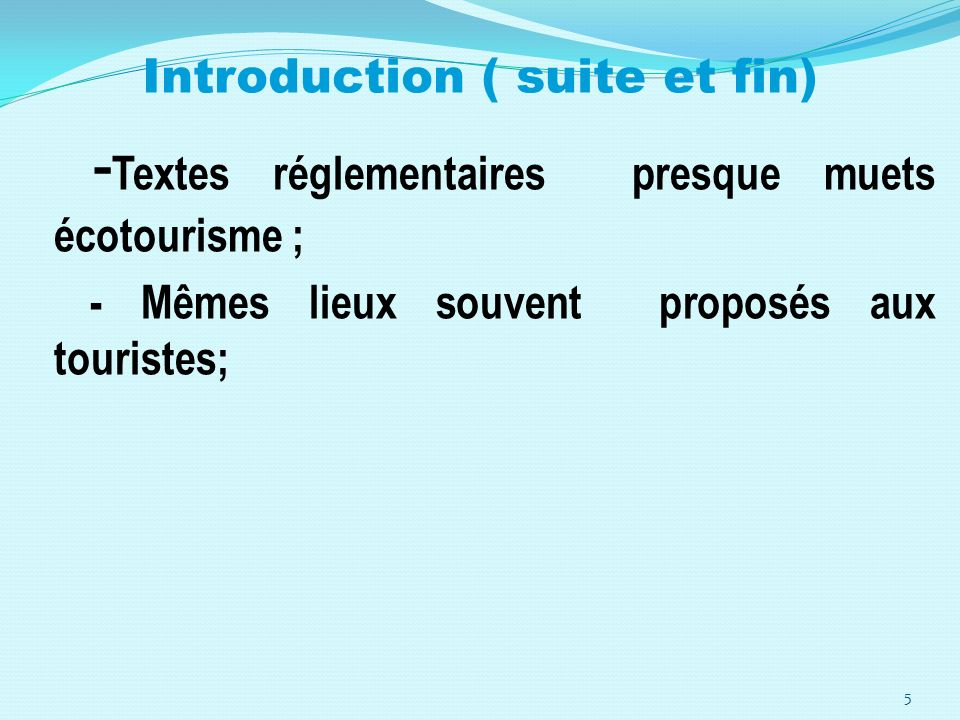 Introduction ( suite et fin)