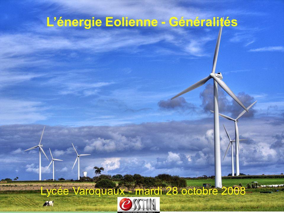 L'énergie Eolienne - Généralités