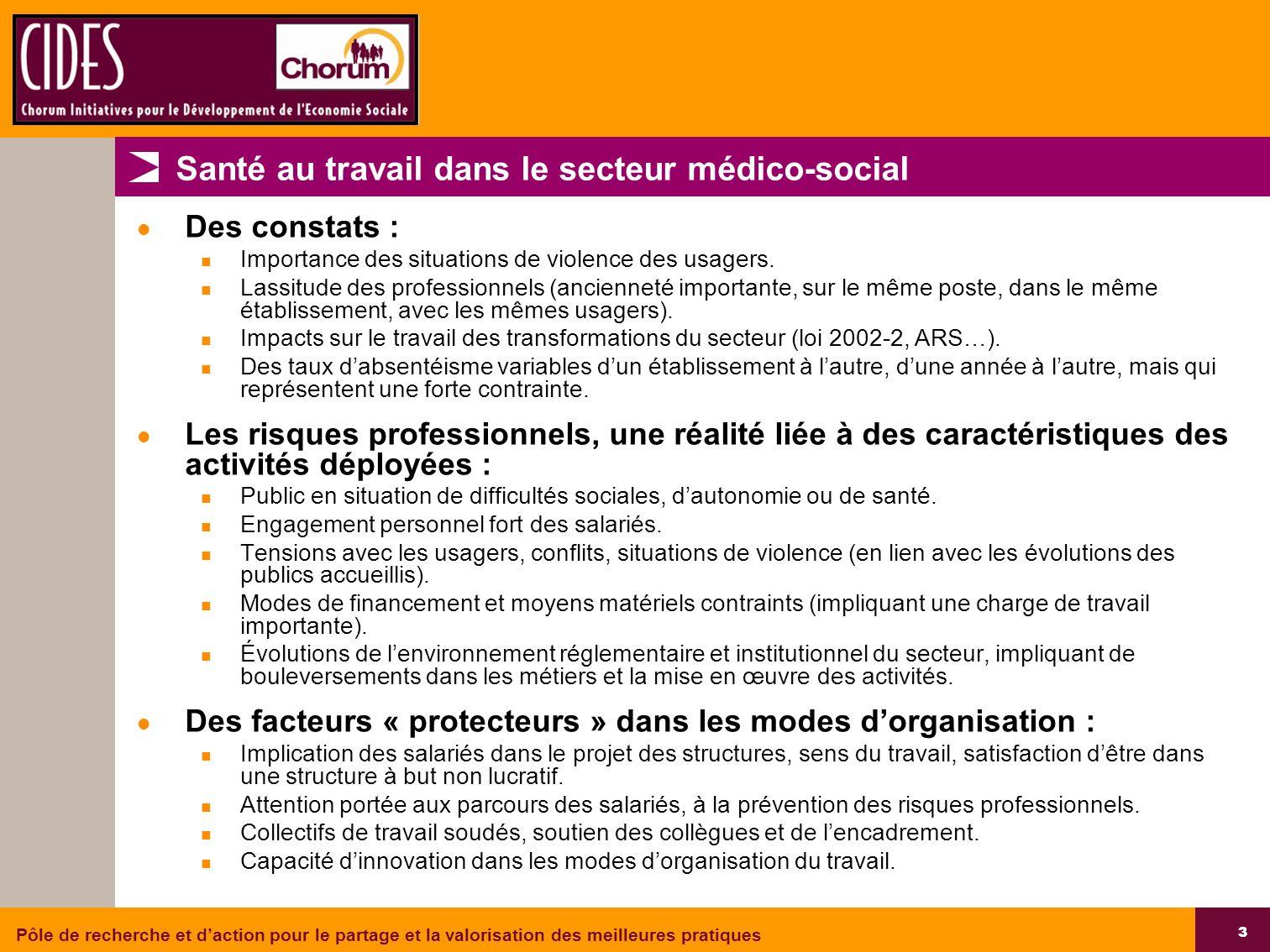 Santé au travail dans le secteur médico-social