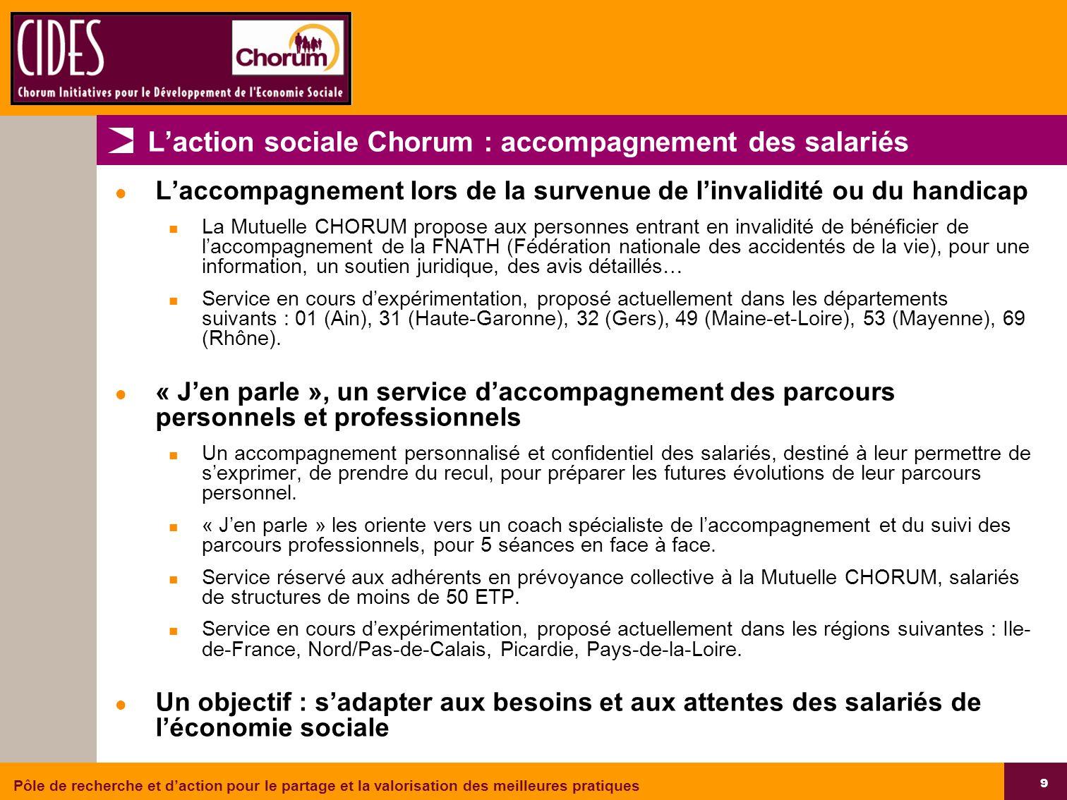 L'action sociale Chorum : accompagnement des salariés