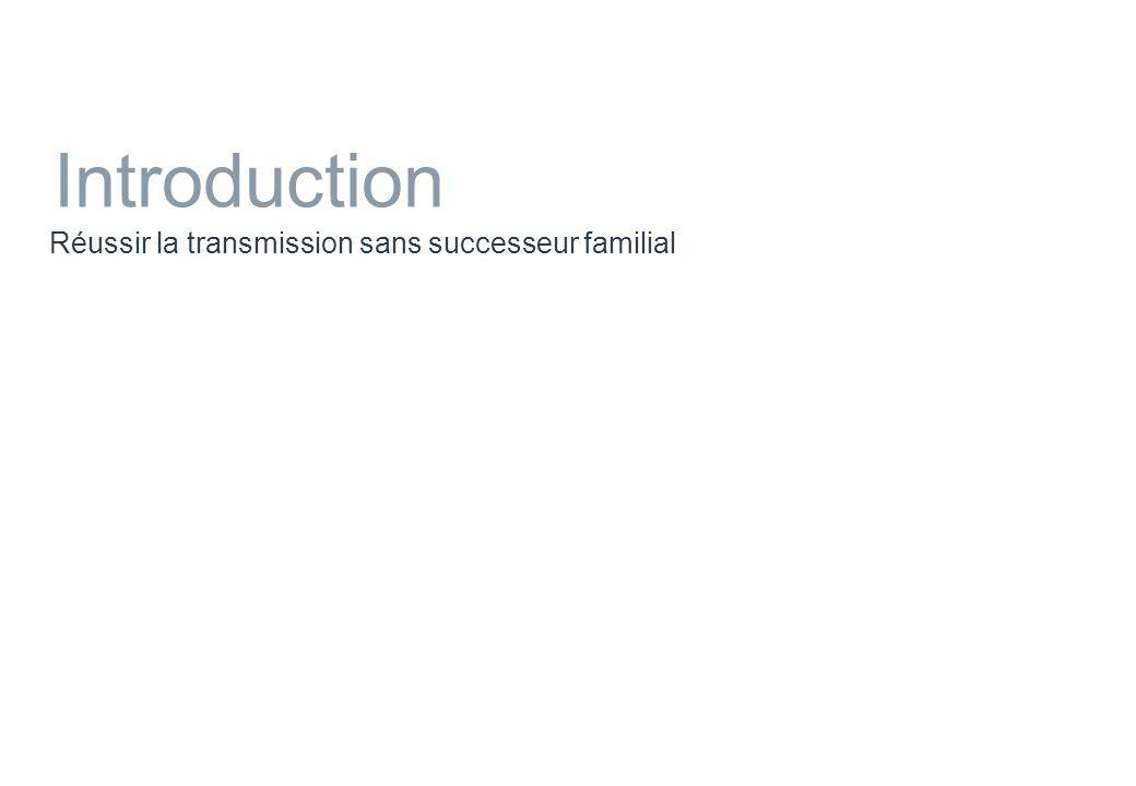 Introduction Réussir la transmission sans successeur familial