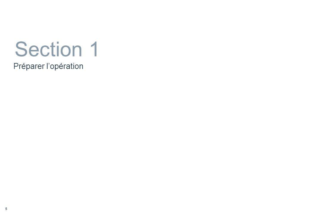 Section 1 Préparer l'opération Intervenant : Rémy GENTILHOMME