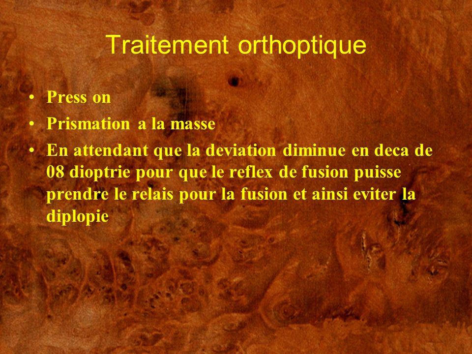 Traitement orthoptique