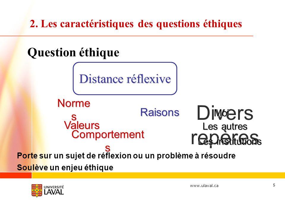 2. Les caractéristiques des questions éthiques