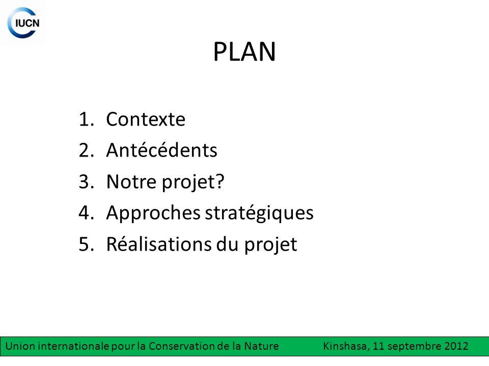 PLAN Contexte Antécédents Notre projet Approches stratégiques